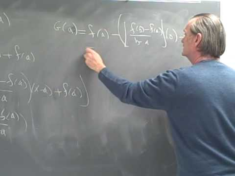 Calculus Proof of the mean value theorem