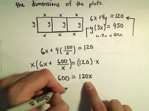 Solving a Geometry Word Problem by Using Quadratic Equations - Example 3