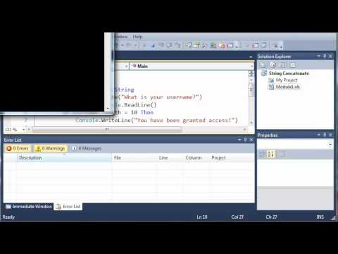 Visual Basic Tutorial - 19 - Get Length Of Strings