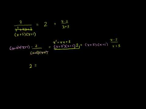Two more examples of solving rational equations