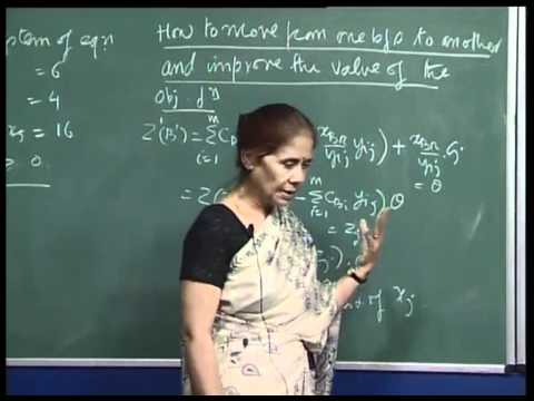 Mod-01 Lec-08 Development of the Simplex Algorithm, Unboundedness, Simplex Tableau.