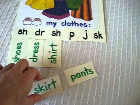 Preschool - Reading-Phonics-Spelling: Beginning sounds and words, clothes and foods picture puzzles.