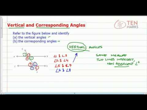 Vertical and Corresponding Angles
