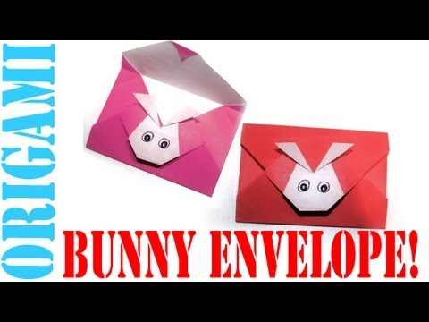 Origami Daily - 242: Easter Bunny Envelope - TCGames [HD]