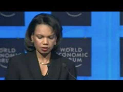 Davos Annual Meeting 2008 - Condoleezza Rice