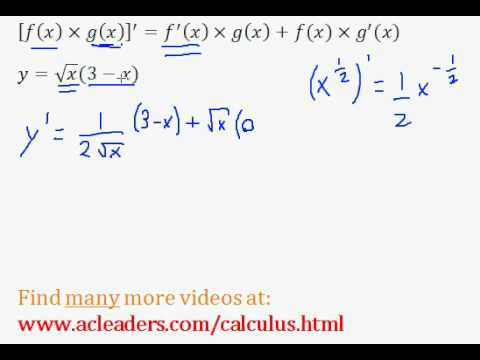Calculus - PRODUCT RULE explained through an example. (pt. 3)