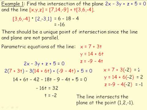 Intersections of Line and Planes Part 1.avi