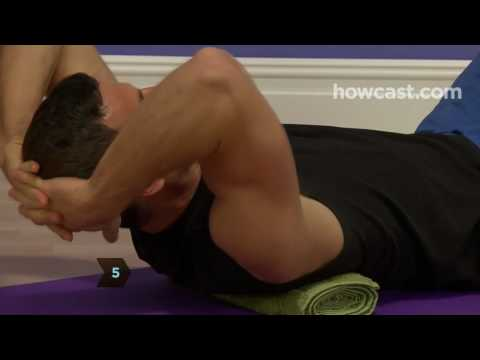 How To Stretch For Back Pain 3: Upper Back Spine Roller