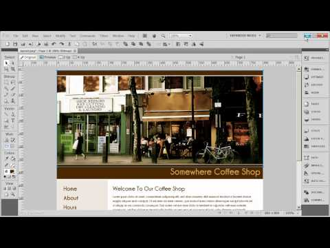 2 - Creating Table Based Layouts in Dreamweaver