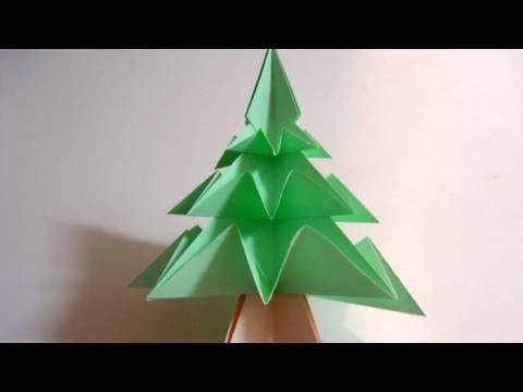 Origami Christmas Tree (Pine Tree) - Árvore de Natal