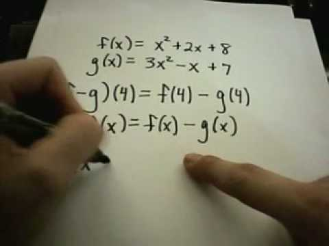 Functions: Adding and Subtracting