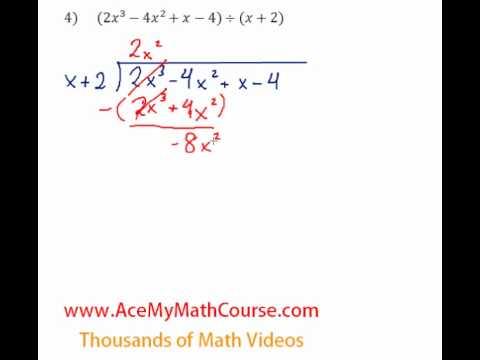 Long Division (Polynomials) - Question #4
