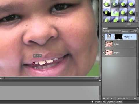 InfiniteSkills Tutorial | Photoshop Elements 10 Training - Whitening Someones Teeth