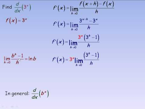 Derivatives of Exponential Functions.avi
