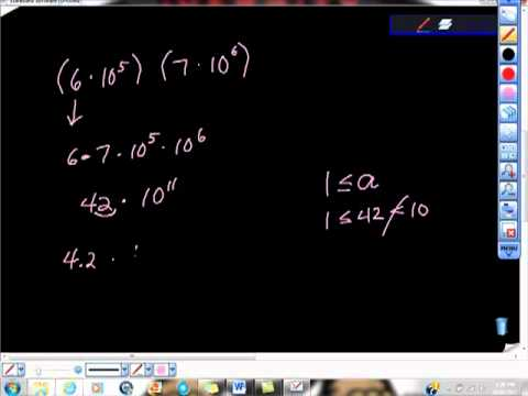 Multiplication of Scientific Notation