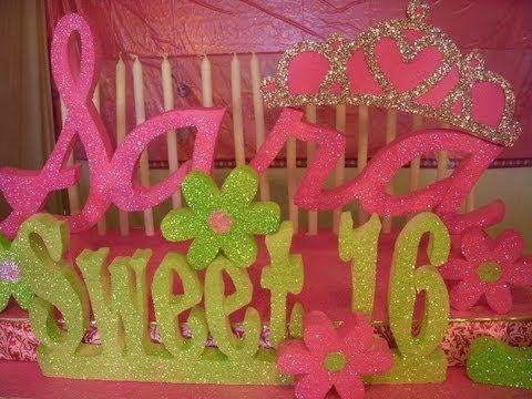 Sweet 16 Candelabra Centerpiece How to DIY- Bar Mitzvah Candelabra - Bat Mitzvah Candelabra