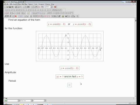 equation from trig graph: example