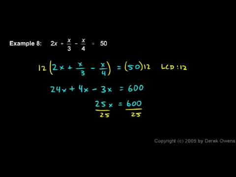 Algebra Review 9.8 - Fractional Equations