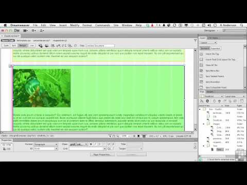 Dreamweaver CS6 Tutorial | Working with Fluid Grid Layouts | InfiniteSkills