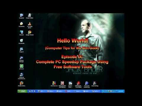 Episode IX: Maintain PC Speedup Solution Utilizing Free Software Tools | Hello World!
