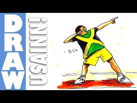 How to draw Usain Bolt - Lightning Bolt Pose