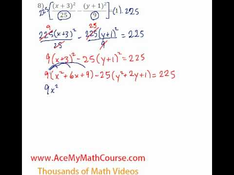 Conics - Standard to General #8