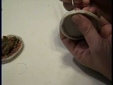 Turkey Platter How to make in polymer clay in miniature 1:12 scale by Garden of Imagination Thanksgiving