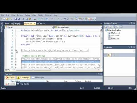 Visual Basic Tutorial - 113 - Car Part 8   Polymorphism