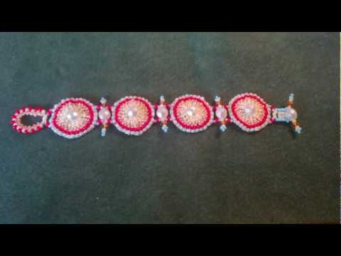 Beading4perfectionists: Beading a toggle clasp with seedbeads beading tutorial