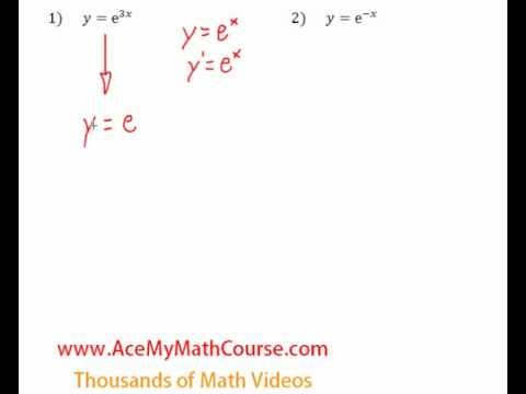 Derivatives of Exponential Functions - Question #1