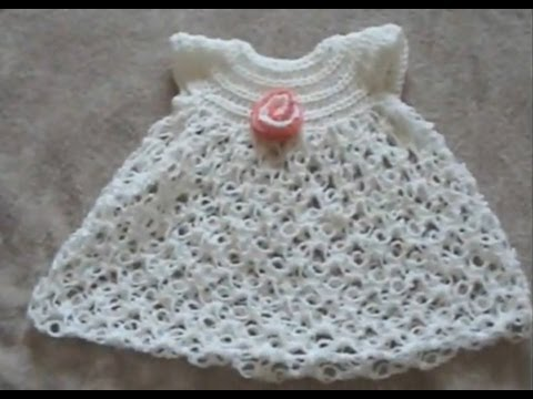Crochet Geek - Crochet Baby Dress - Solomon's Knot