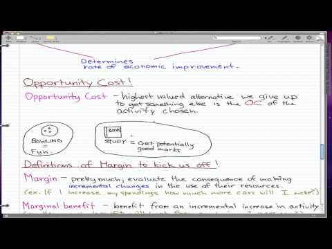 Microeconomics - 6: Opportunity Cost and Margins!