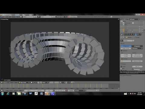 Blender Tutorial - Advanced Array Animation Part 7/10