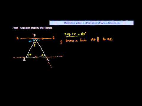 $ CBSE  Maths Class IX, ICSE Maths Class 9 -  Proof   Angle sum property of a Triangle