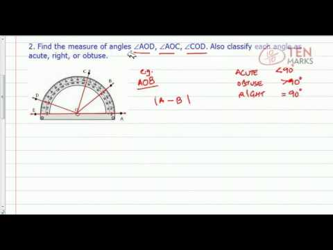 Name, Classify, and Measure Angles