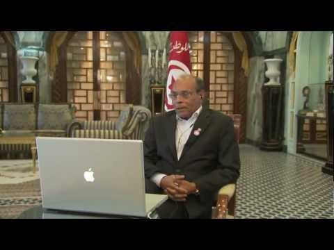 Google+ Hangout with Moncef Marzouki for World Press Freedom Day 2012