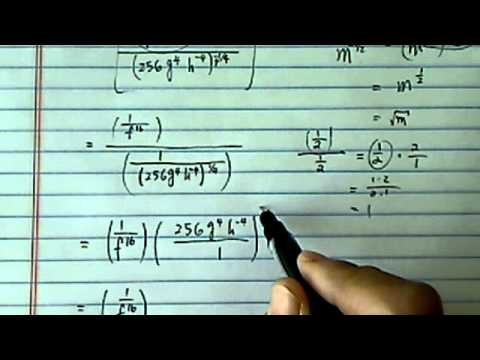 Simplify Exponents:(f^-16)/(256g^4h^-4)^-1/4