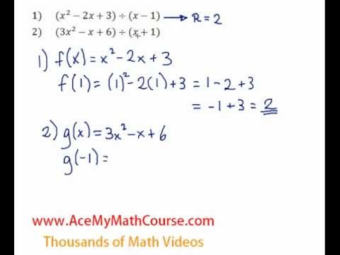 Remainder Theorem - Question #2
