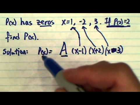 The cubic polynomial, P(x) has zeros 1,-2,3. Find an equation for P(x) if P(2)=2
