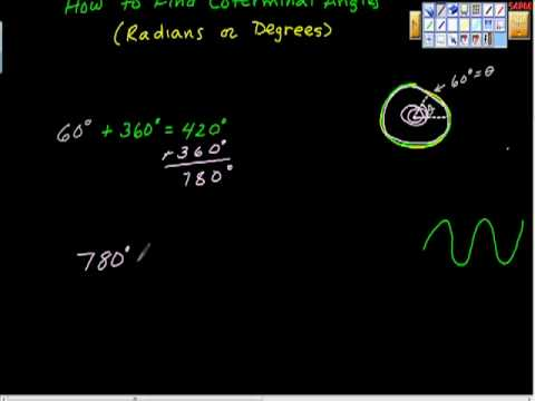 How to Find Coterminal Angles (positive and negative) Degrees. Precalculus
