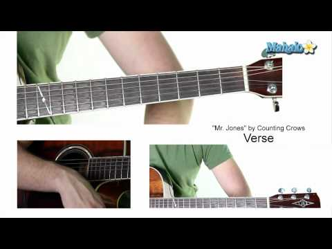 "How to Play ""Mr. Jones"" by Counting Crows on Guitar"