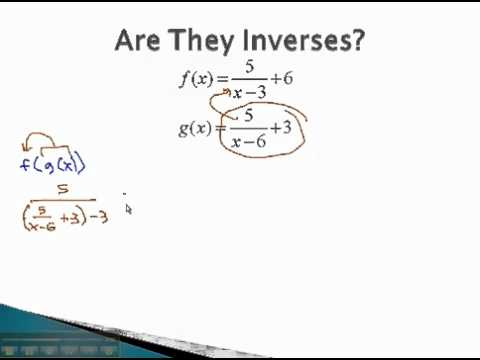 Inverse Functions - Showing Functions Are Inverses - YouTube.mp4