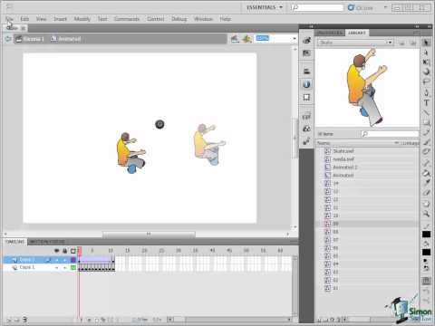 Flash CS5 Training Tutorial Part 3 -- Working with the Library Panel