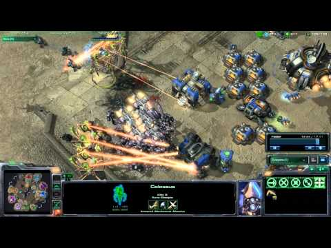StarCraft 2 HD Gameplay - Pwnin with Colossus (Part 2/2)