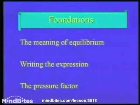 College Chemistry 2: Chemical Equilibrium Intro 1
