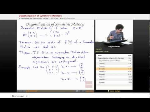 Linear Algebra: Diagonalization of Symmetric Matrices