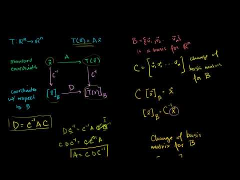 Lin Alg: Alternate Basis Tranformation Matrix Example Part 2