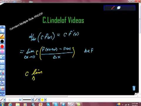 AP Calculus Constant Multiple Rule PROOF