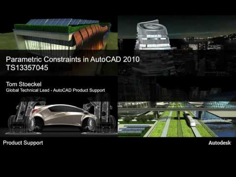 Parametric Constraints in AutoCAD 2010