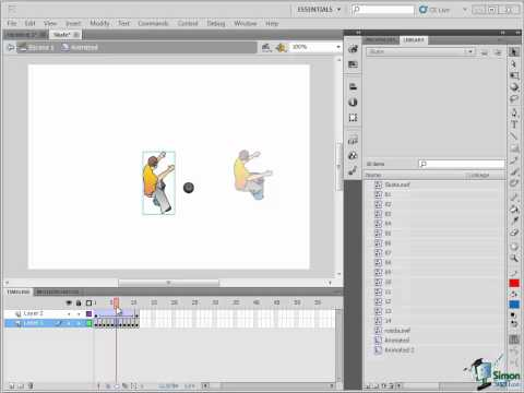 Flash CS5 Training Tutorial Part 4 -- Understanding the Timeline